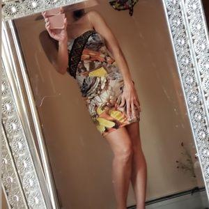 Hot Miami Styles Dresses - Strapless glitzy dress XS-S